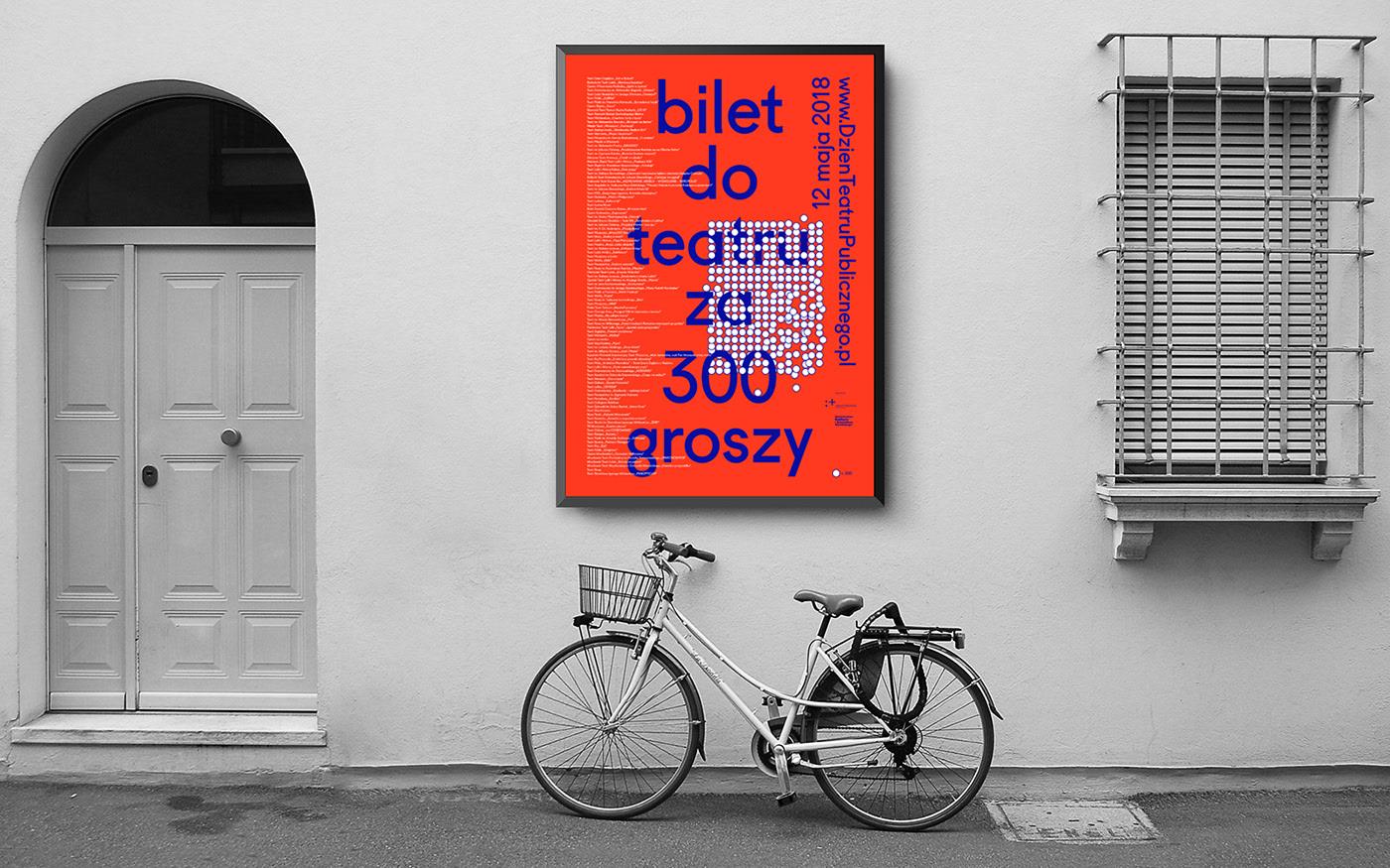 """Plakat akcji """"Bilet doteatru za300 groszy"""" zdobywcą PGD Awards"""