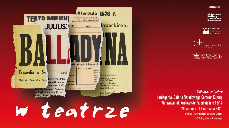 Wystawa Balladyna wteatrze wKordegardzie