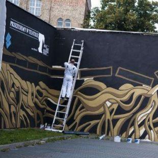 Wernisaż teatralnego muralu wGorzowie Wielkopolskim