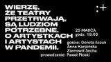 Artyści wpandemii. Prezentacja raportu zbadań | webinar