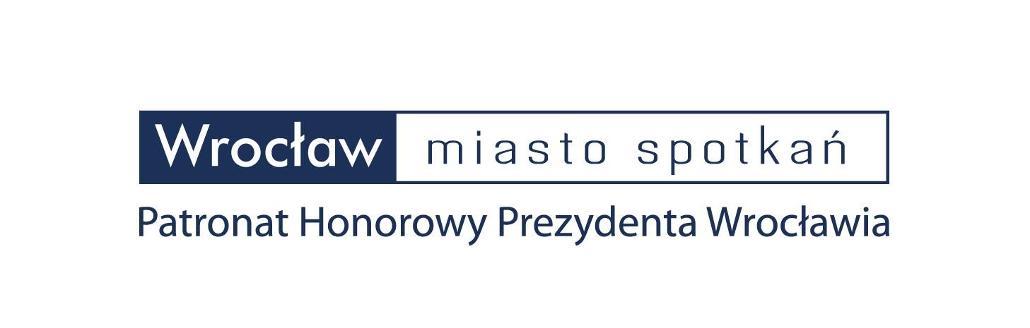 Logo: Patronat Honorowy Prezydenta Wrocławia